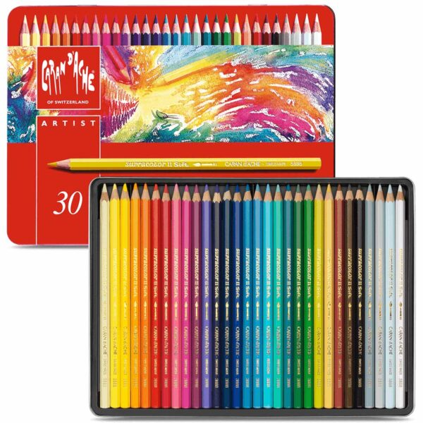 Caran dAche Supracolor II Aquarelle Pencil Sets  - Set of 30