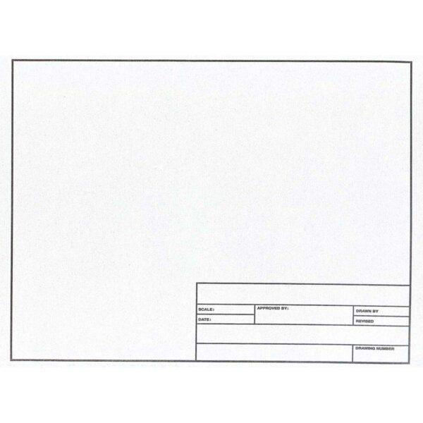 "Clearprint Design Vellum 1022-HTS Title Block Pkg of 10 Sheets 24"" x 36"""