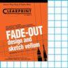 """Clearprint Design Vellum 1000H-10 Fade-Out Pad 10 x 10 Grid 8.5"""" x 11"""""""