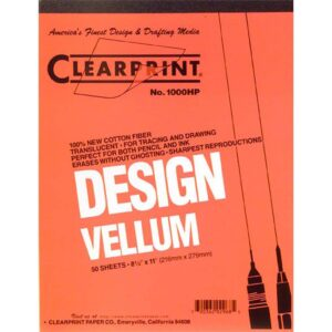 "Clearprint Design Vellum 1000H Pad 50 Sheets 8.5"" x 11"""