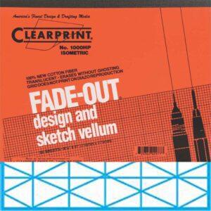 "Clearprint Design Vellum 1000H-IS Pad Isometric Grid 8.5"" x 11"""