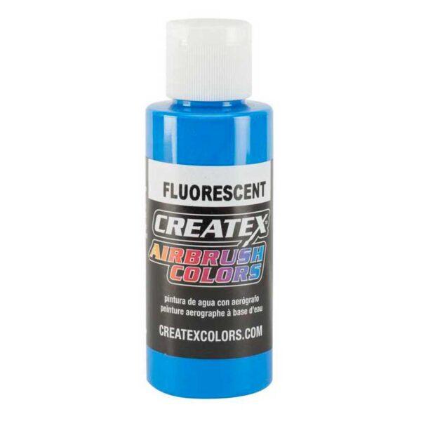 Createx Airbrush Colors - Fluorescent Blue 5403 118 ml (4 OZ)