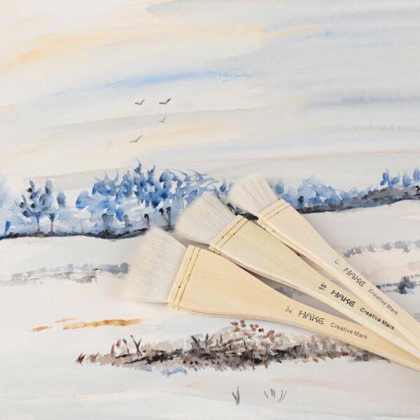 Creative Mark Hake Brush Set of 3 Large Beauty on Art