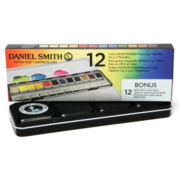 Daniel Smith Watercolor Set 12 Half Pan Angle
