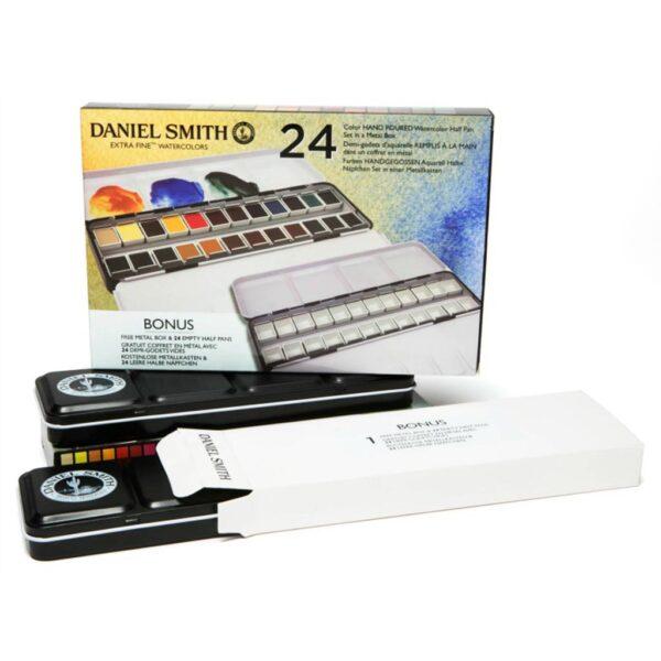 Daniel Smith Watercolor Set 24 Half Pan Angle