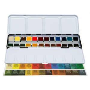 Daniel Smith Watercolor Set 24 Half Pan Open