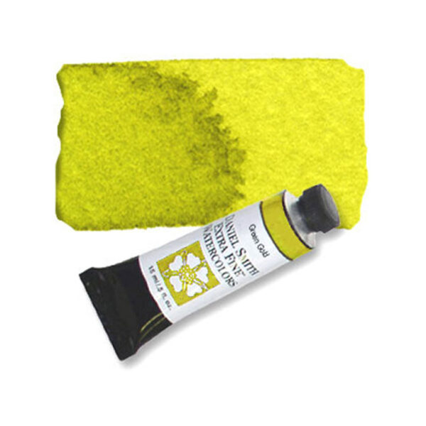 Daniel Smith Extra Fine Watercolors - Green Gold 139 15 ml (0.5 OZ)