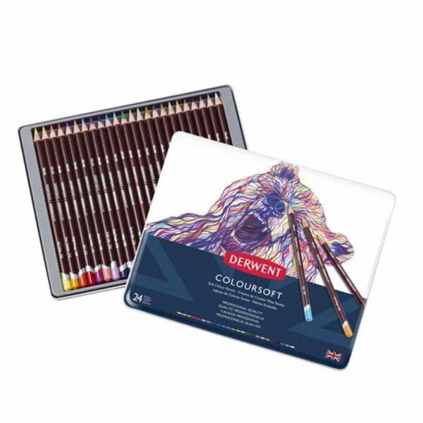 Derwent Coloursoft Pencil Sets - Set of 24