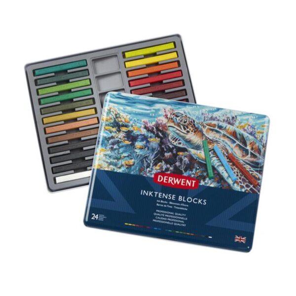 Derwent Inktense Block Sets - Tin Box Set of 24