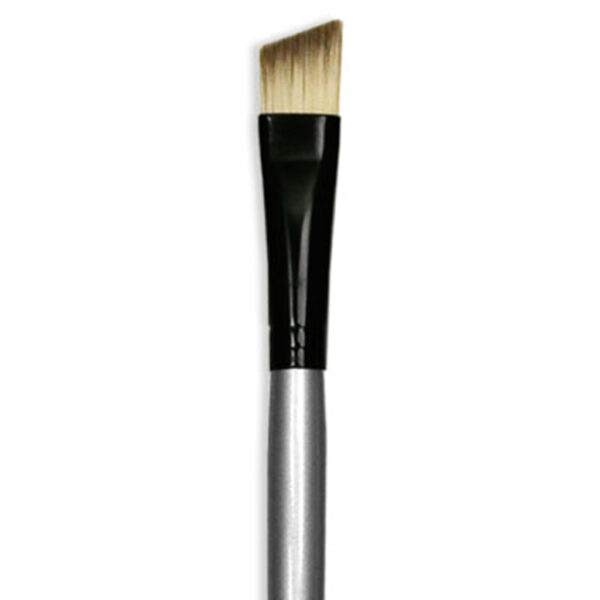 Dynasty Black Silver Brushes - Short Handle Angle Shader 4960A Size 3/8in