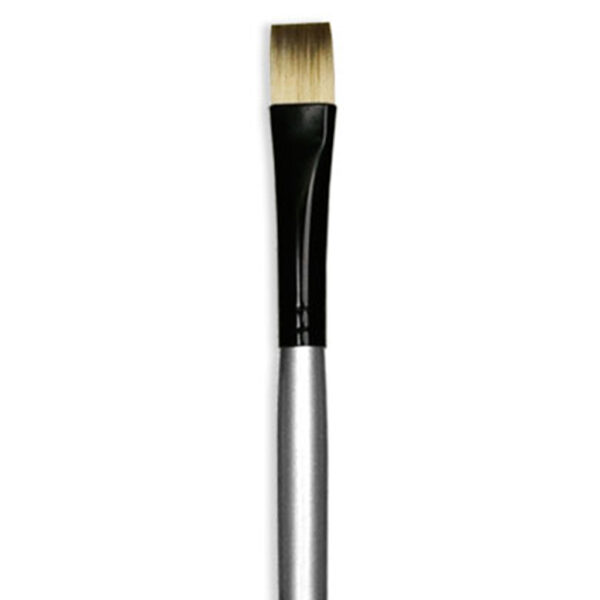 Dynasty Black Silver Brushes - Short Handle Bright 4920BR Size 8