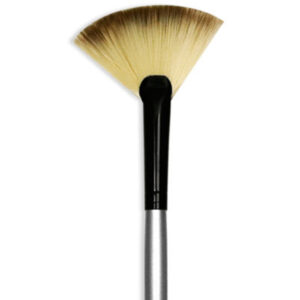 Dynasty Black Silver Brushes - Short Handle Fan 4980 Size 6