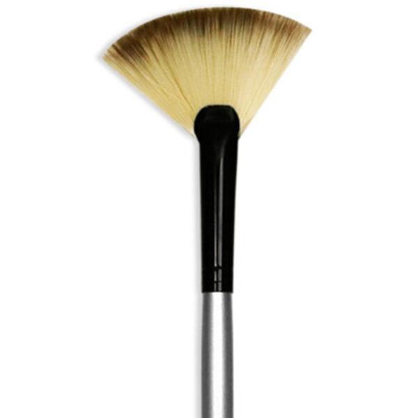 Dynasty Black Silver Brushes - Short Handle Fan 4980 Size 6