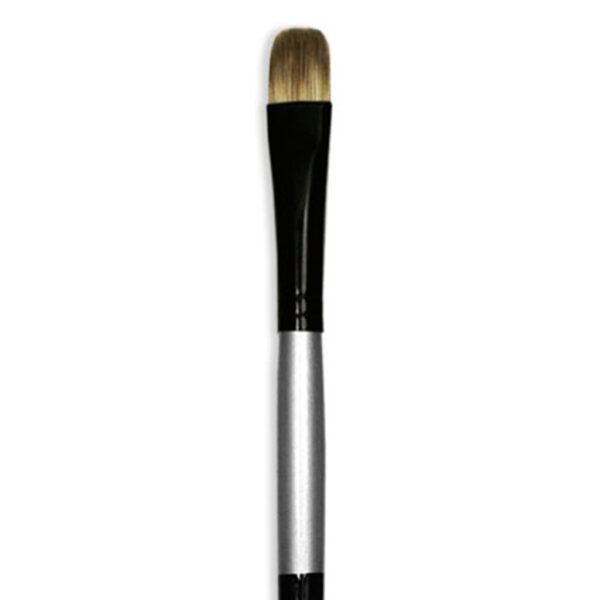 Dynasty Black Silver Brushes - Long Handle Filbert 4890FIL Size 8
