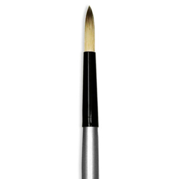 Dynasty Black Silver Brushes - Short Handle Round 4970RD Size 8