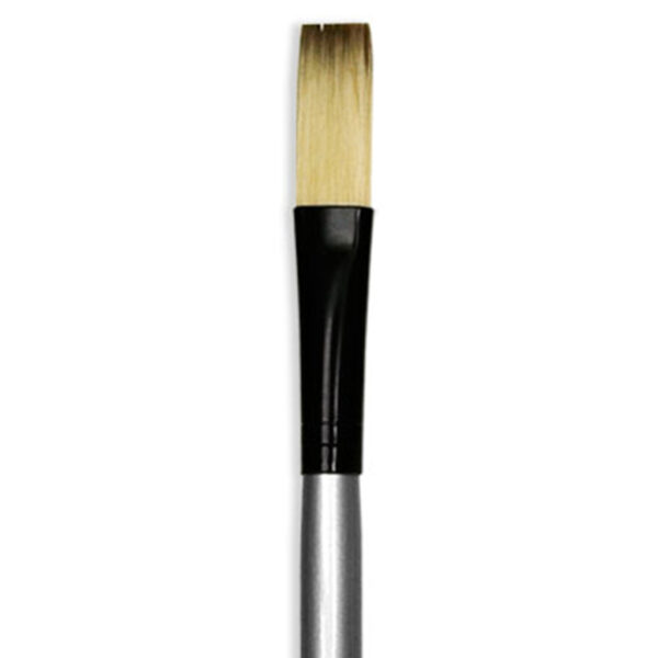 Dynasty Black Silver Brushes - Short Handle Stroke 4910ST Size 3/4in