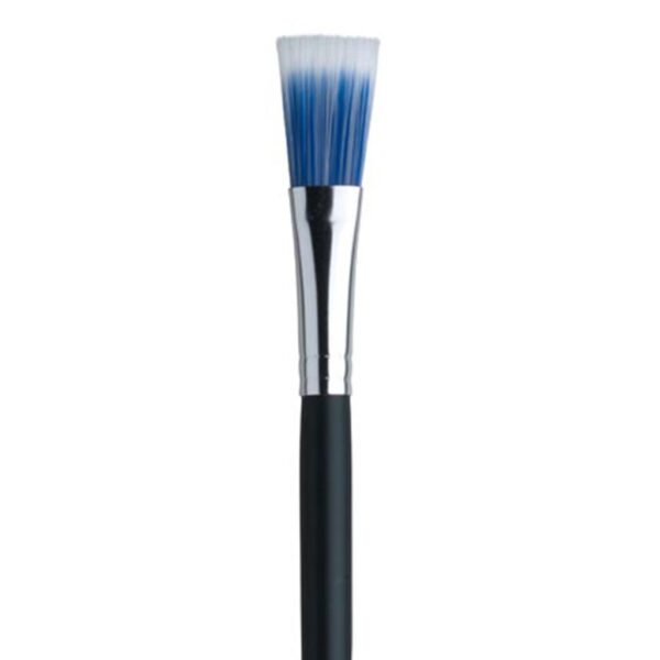 Dynasty Blue Ice Oil and Acrylic Brushes - Long Handle Flat Size 8