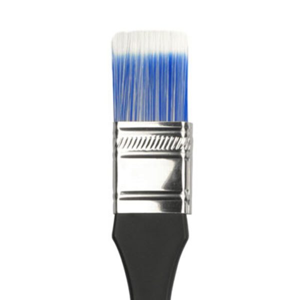 Dynasty Blue Ice Wax Brushes - Short Handle Flat Size 1in