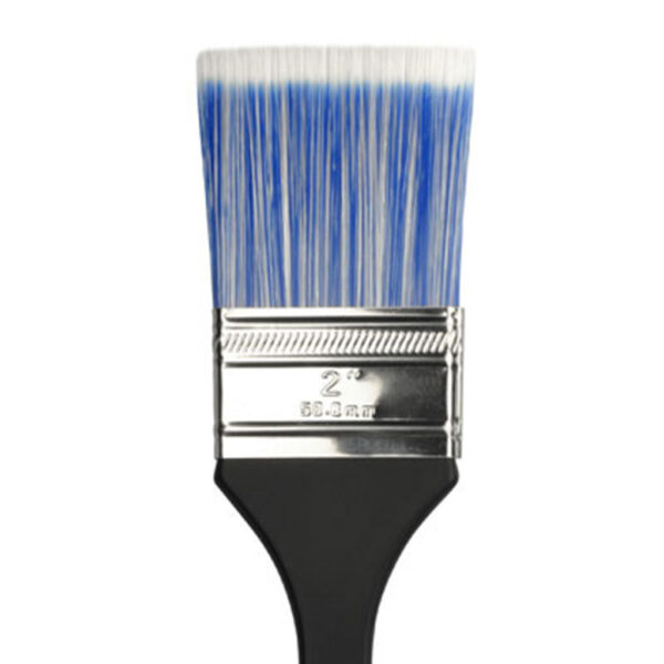Dynasty Blue Ice Wax Brushes - Short Handle Flat Size 2in