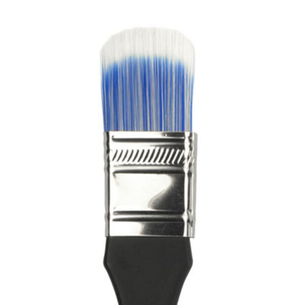 Dynasty Blue Ice Wax Brushes - Short Handle Oval Size 1in