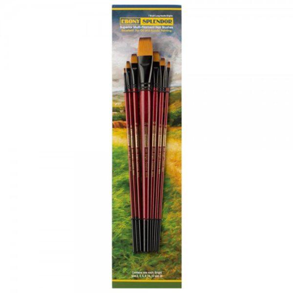 Creative Mark Ebony Splendor Brush Sets - Bright Long Handle Set of 7