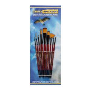 Creative Mark Ebony Splendor Brush Sets - Explorer Short Handle Set of 9