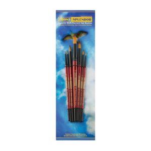 Creative Mark Ebony Splendor Brush Sets - Round Short Handle Set of 7