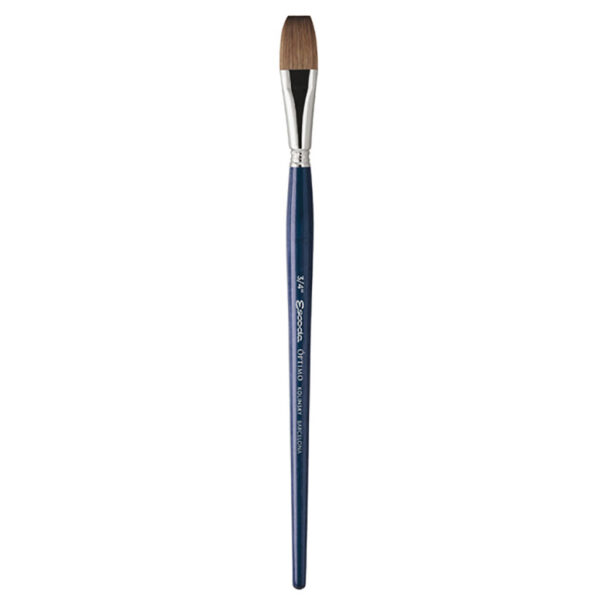 Escoda Optimo Kolinsky Sable Watercolor Brushes - Flat Wash Sz 3/4 in