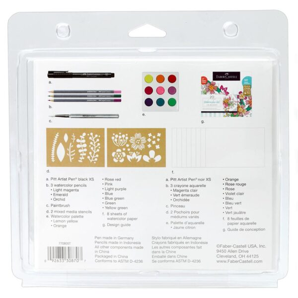 Faber Castell Watercolor for Beginners Content