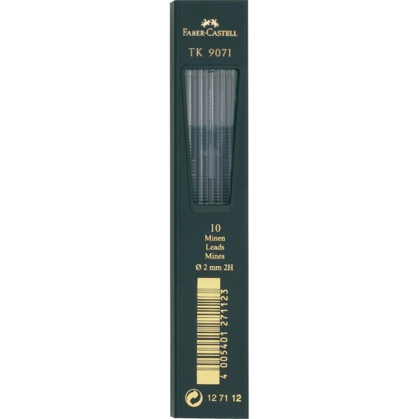 Faber Castell TK 9400 Drawing Pencil Lead - Lead Refill 2 mm Pkg of 10 2H