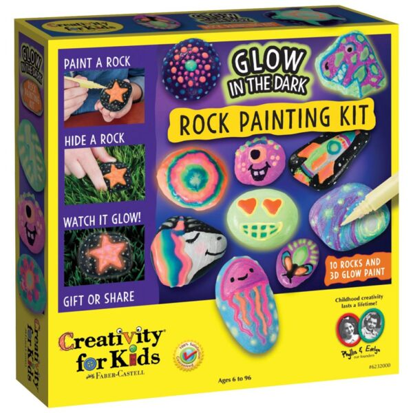 Faber Castell Glow in Dark Rock Painting Kit