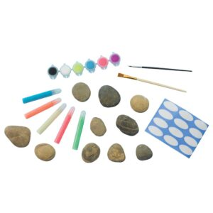 Faber Castell Glow in Dark Rock Painting Kit Content