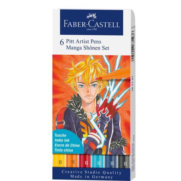 Faber Castell Pitt Artist Pen Sets - Shohen Wallet Set of 6