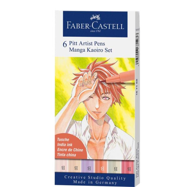 Faber Castell Pitt Artist Pen Sets - Kaoiro Wallet Set of 6