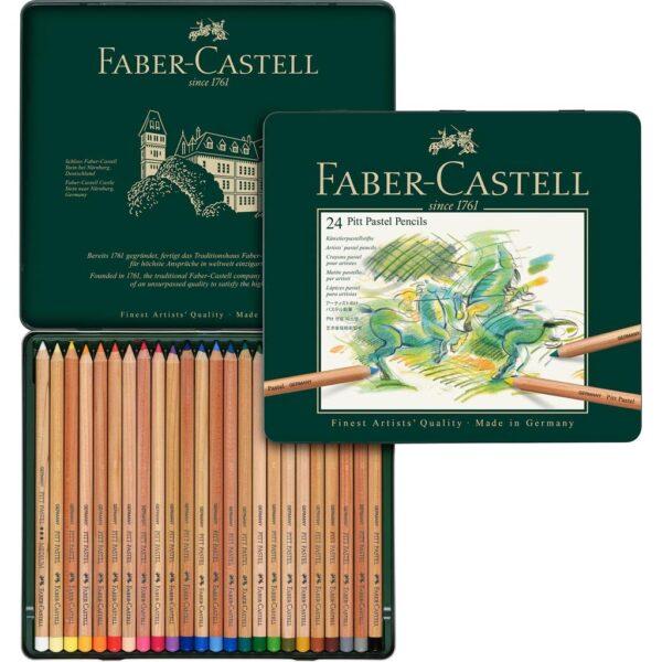Faber Castell Pitt Pastel Pencil Sets - Set of 24