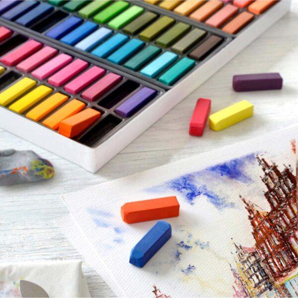Faber Castell Soft Pastel Half Stick Set 48pc Open