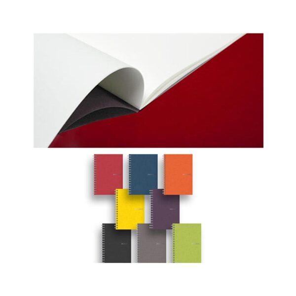 Fabriano EcoQua Notebooks - Staplebound Wine Blank 8.25 x 11.7 in