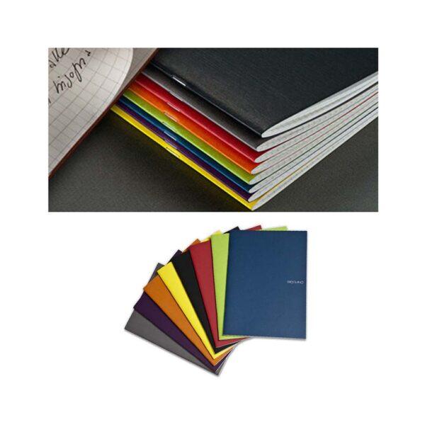 Fabriano EcoQua Notebooks - Staplebound Wine Grid 8.25 x 11.7 in