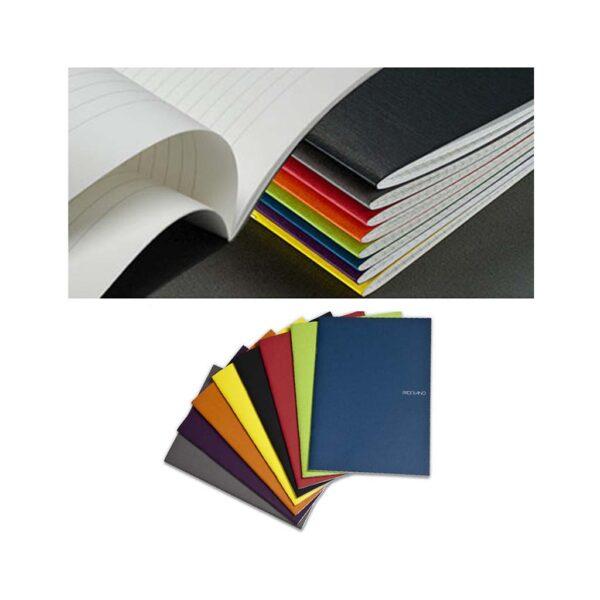 Fabriano EcoQua Notebooks - Staplebound Wine Lined 8.25 x 11.7 in