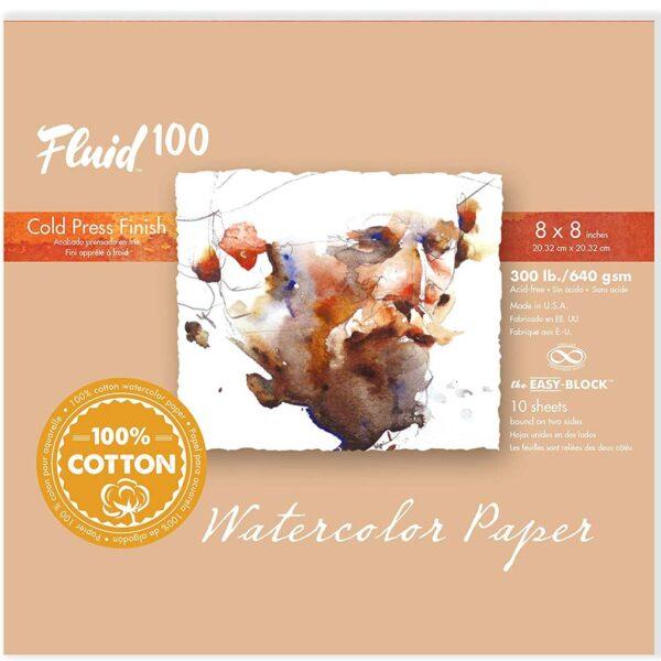 Fluid 100 Watercolor Block 300lb Cold Press 12x12