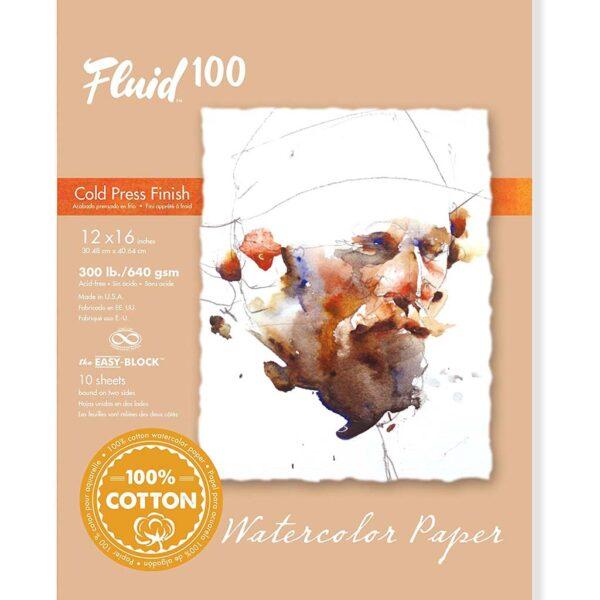 Fluid 100 Watercolor Block 300lb Cold Press 12x16