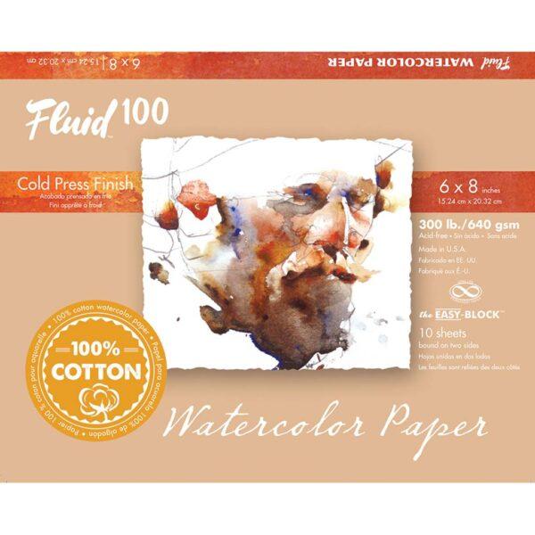 Fluid 100 Watercolor Block 300lb Cold Press 6x8