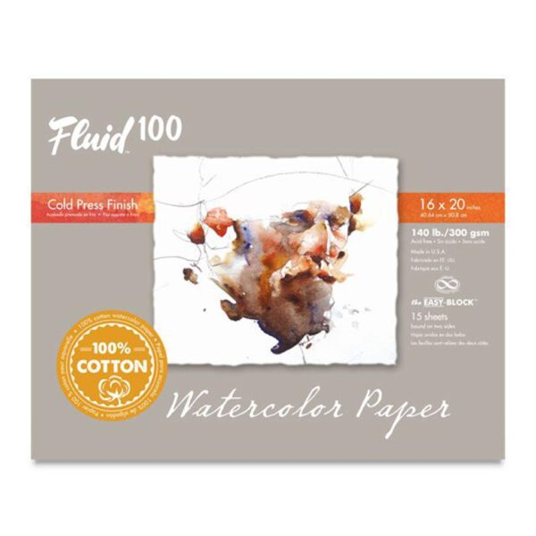 Fluid 100 Watercolor Block Cold Press 16x20