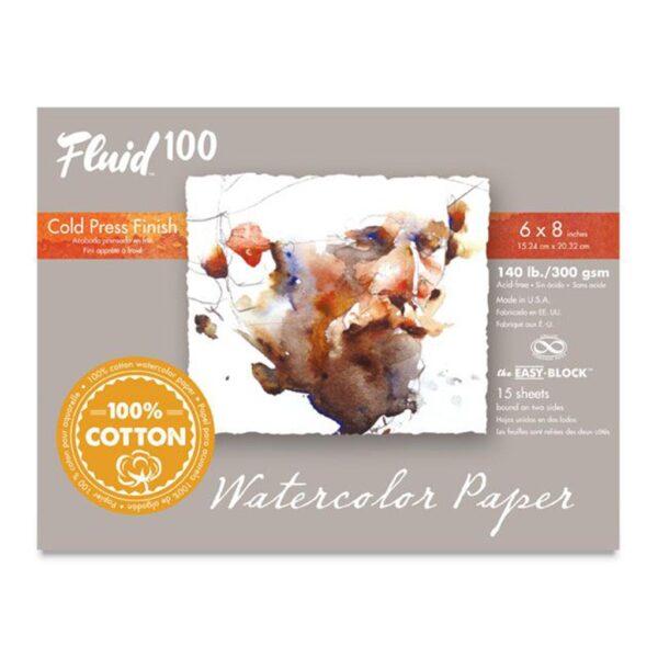 Fluid 100 Watercolor Block Cold Press 6x8