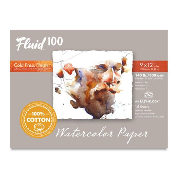Fluid 100 Watercolor Block Cold Press 9x12