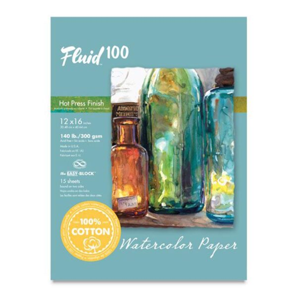 Fluid 100 Watercolor Block Hot Press 12x16