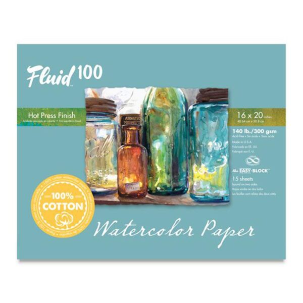 Fluid 100 Watercolor Block Hot Press 16x20