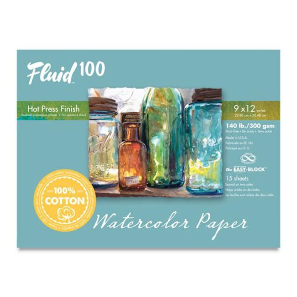Fluid 100 Watercolor Block Hot Press 9x12