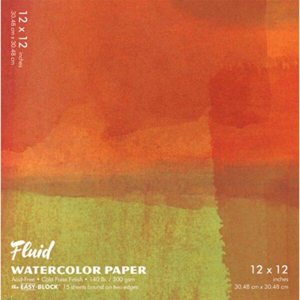 Fluid Watercolor EZ Block 12x12