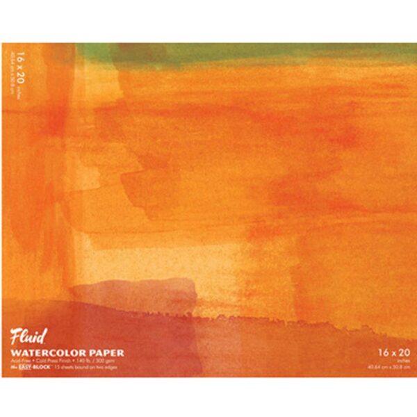 Fluid Watercolor EZ Block 16x20